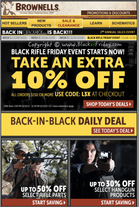 Brownells Black Friday Sale Ad Flyer - Page 1