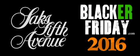 Saks Fifth Avenue Black Friday 2016