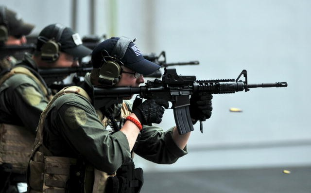 Somewhere in the Arabian Sea - USS Abraham Lincoln VBSS Team - BlackFive - us navy master at arms