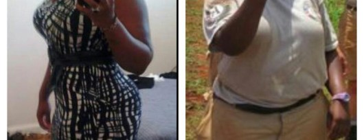 NappyNikki Before (right) and After (left) Weight Loss