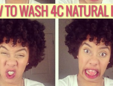 how to wash 4c natural hair