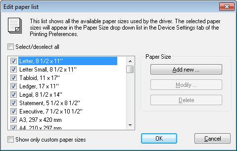 Large paper size support - Licensed ColorPlus Printer Driver for