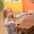 Playing a balafon