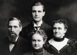 Budd family with Etta in the center, circa 1890