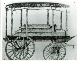 Carvers drawing of Jesup wagon he designed circa 1905
