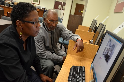 Antoinette Harrell & Johnny Lee Gaddy Researching at the Florida State Archives
