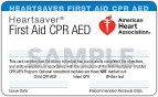 American Heart Association Heartsaver FIRST AID CPR AED Provider