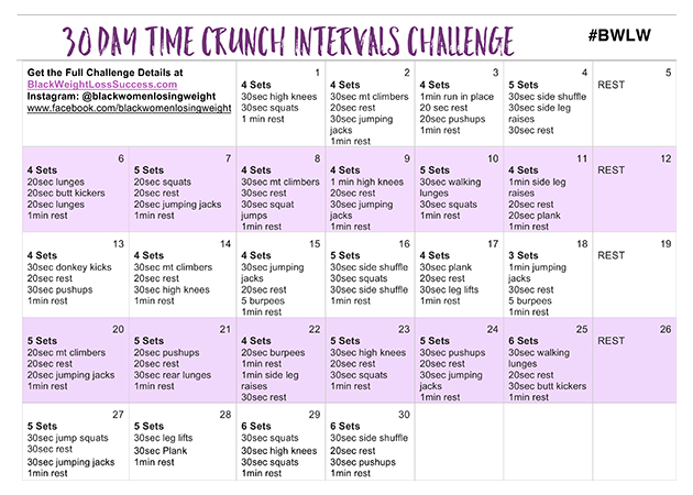 30 day weightloss challenge meal plan
