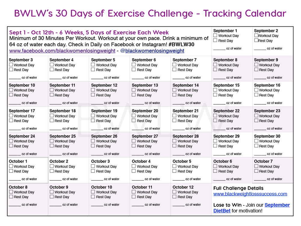 30 Day Exercise Challenge and DietBet Black Weight Loss Success