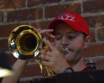 red jazz hat
