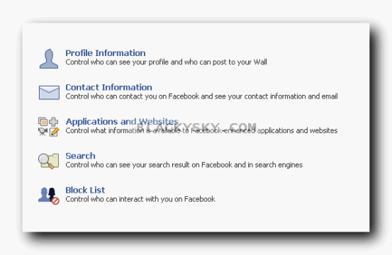 blackysky facebook privacy