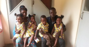 Collins Asiedu & Grace Okwan with their quadruplets
