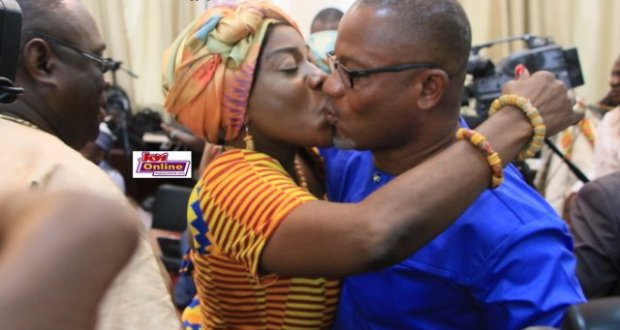 Cathy Afeku with hubby