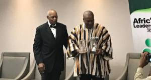 Mr. Mahama with his prize