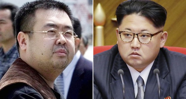 Kim Jong-nam on the left