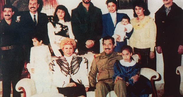 Saddam Hussein with family