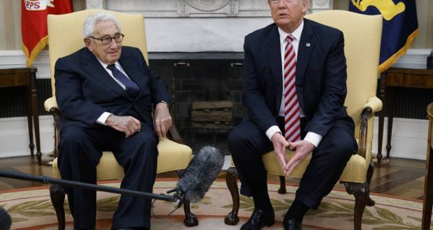 Henry Kissinger with Trump