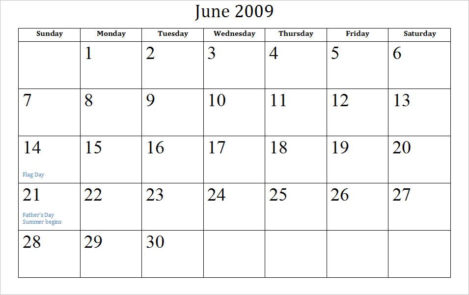 Blank Calendar - Printable 2016 Calendar Templates