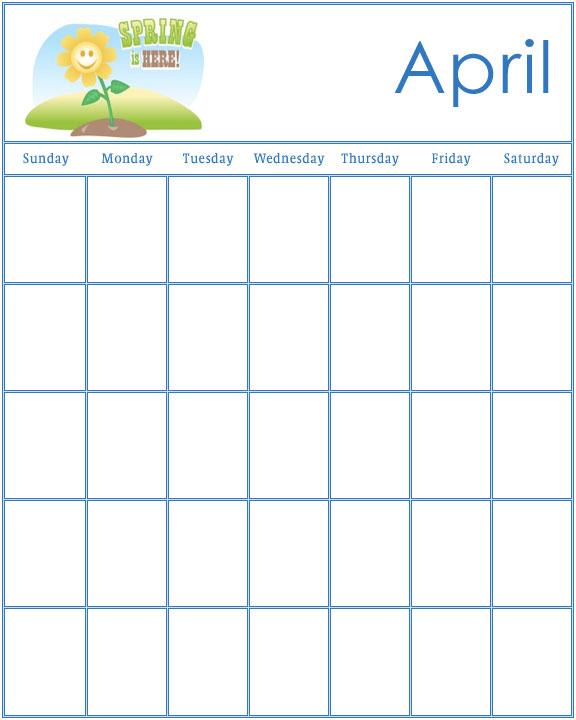 Blank Monthly School Calendar Blank Monthly Calendar Office Templates Preschool Calendars