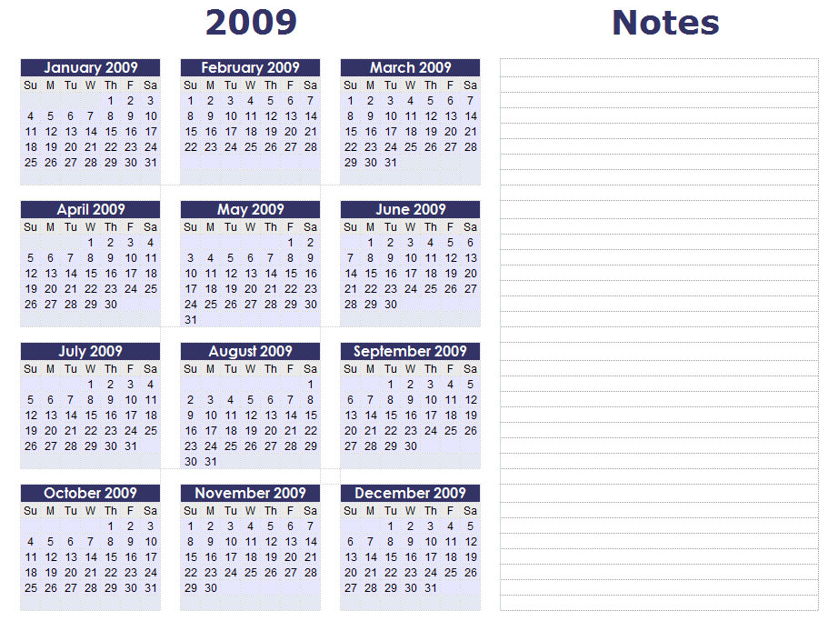 Blank Calendars - Yearly Calendar Forms and Templates - 2015 calendar template with holidays
