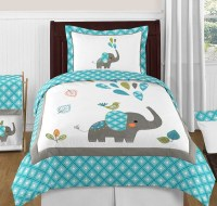 Mod Elephant Comforter Set - 3 Piece Full/Queen Size By ...