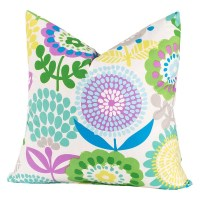 Crayola Pointillist Pansy Square Pillow
