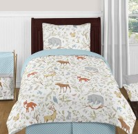 Woodland Toile Bedding Set - 4 Piece Twin Size By Sweet ...