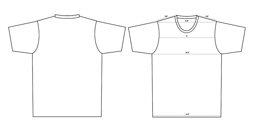 Blank T Shirt Templates 6 Must-Haves - Blankstyle Blog - t shirt template