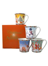 Classic Christmas Four Mugs Set   Blarney