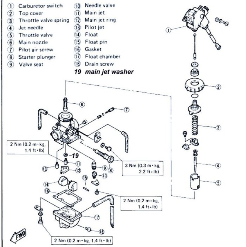yamaha blaster carburetor diagram