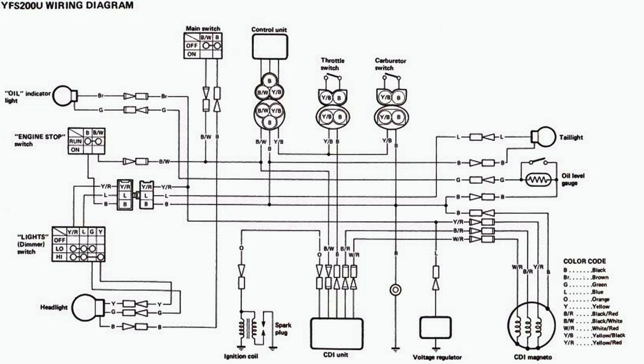 yamaha blaster wire harness diagram