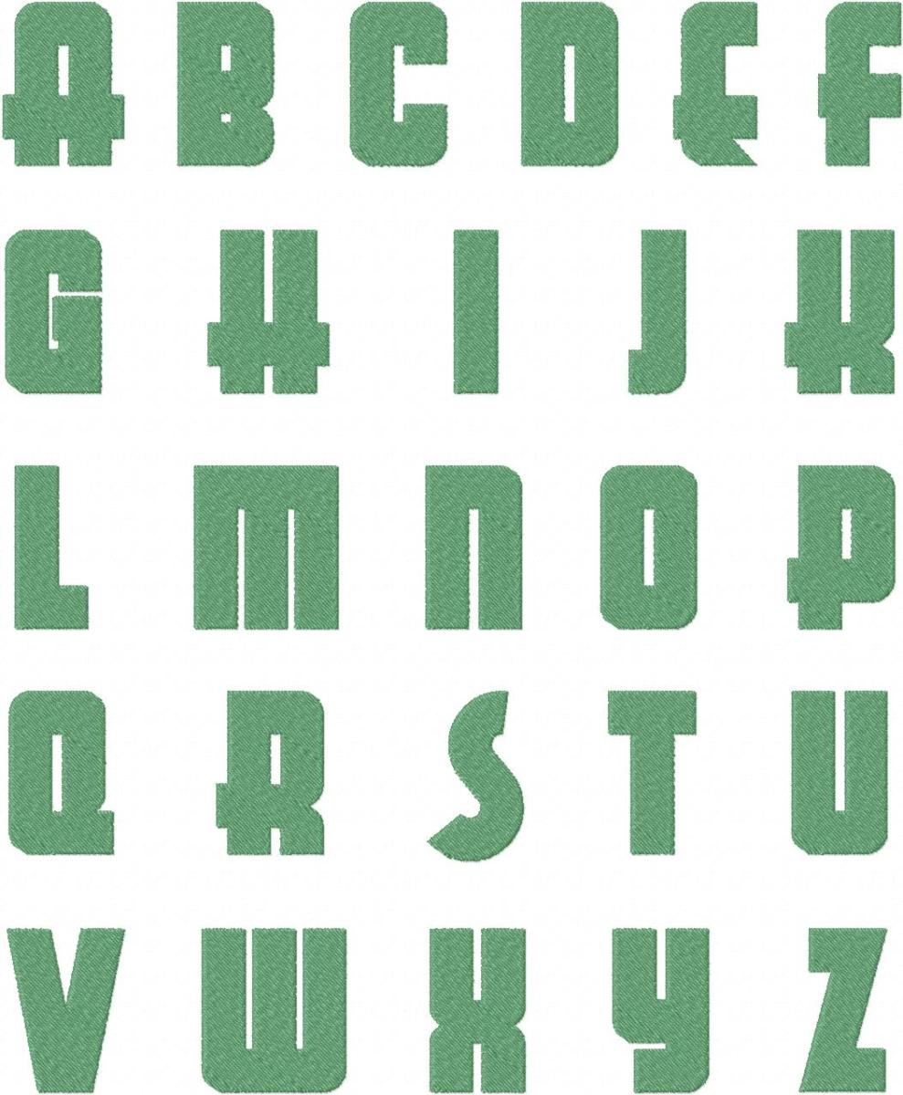 monogramming fonts for embroidery machine
