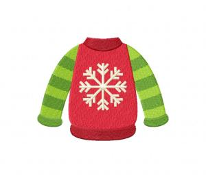 Winter Sweater Snowflake Stitched 5_5 Inch