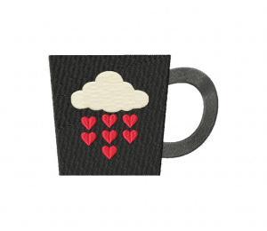 Valentine Coffee Mug Black Stitched 5_5 Inch