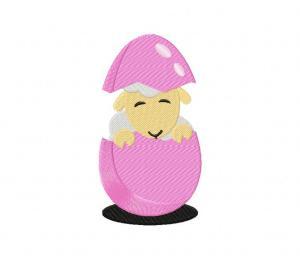 Easter Sheep Cracked Egg 5_5 inch