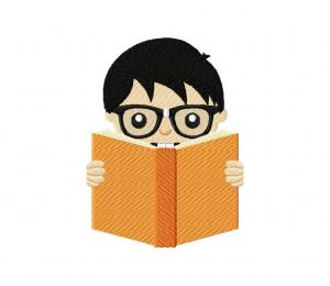 Reading Boy With Glasses 5_5 inch