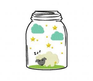 Sleeping Sheep Night Jar 5_5 inch
