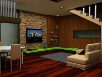 Modern and Futuristic Interior Room Design with Natural