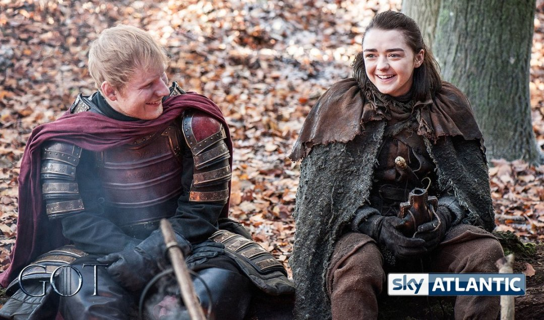 Ed Sheeran and Maisie Williams in GOT