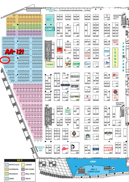 Wondercon exhibitor map