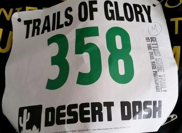 trails of glory race bib