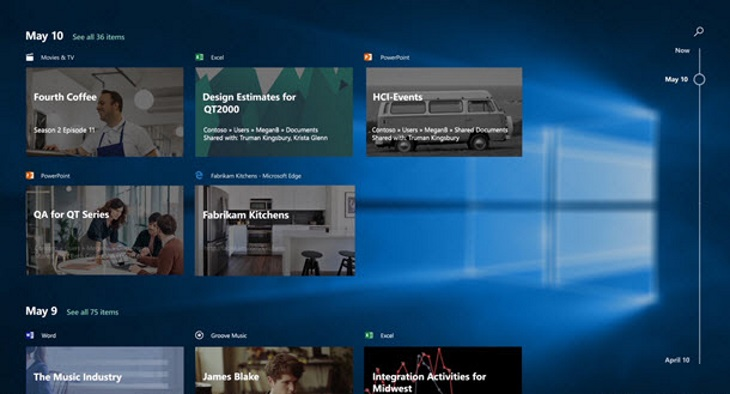 Microsoft Working on Two Windows 10 Features Named Timeline and Sets - timeline windows
