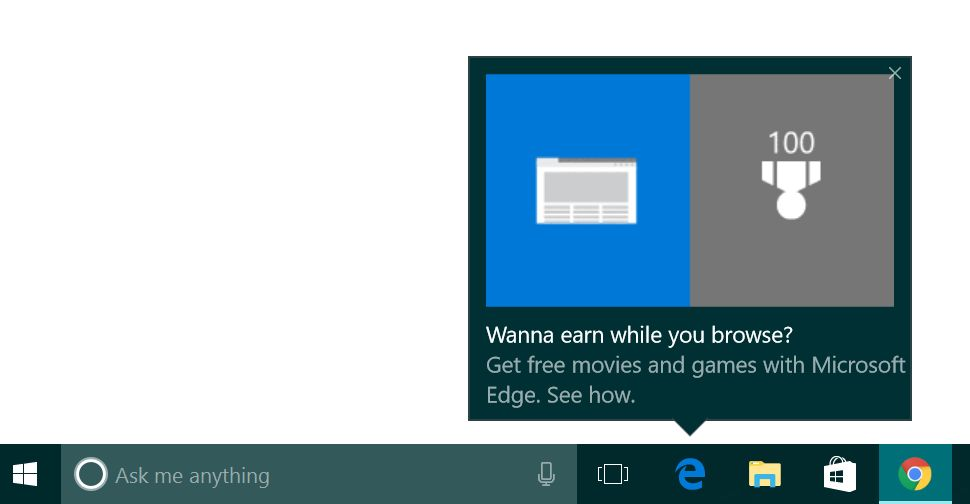Microsoft Pesters Users with Ads Again, This Time for Edge