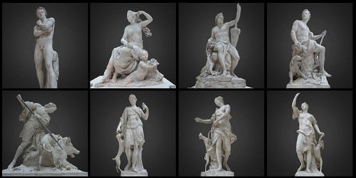 Free collection of 3d sculptures from the Louvre \u2022 Blender 3D Architect