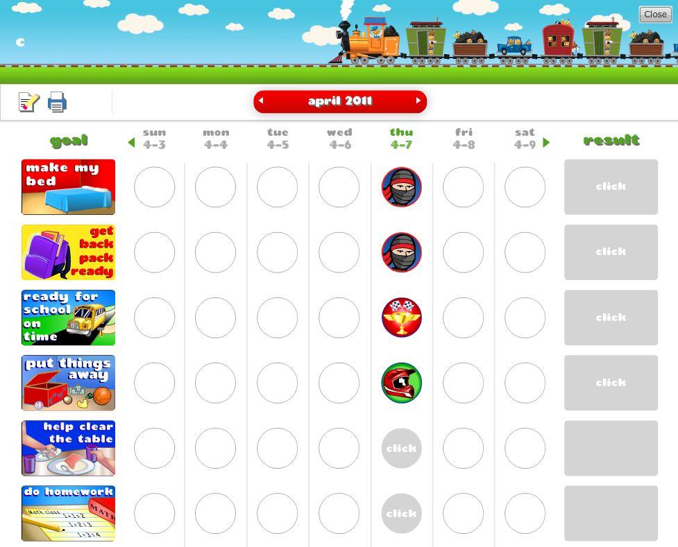 Free Chore Chart  Behavior Charts from GoalForIt - A Blender Mom