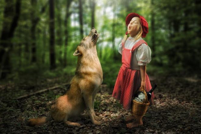 """Sensitive little Rotkäppchen"" by John Wilhelm"