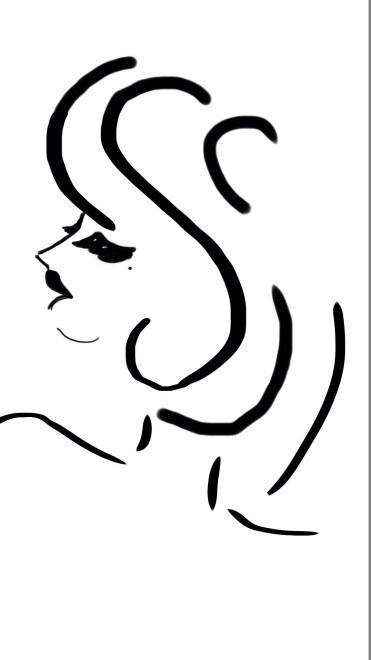 Studie einer Frau - Rückansicht