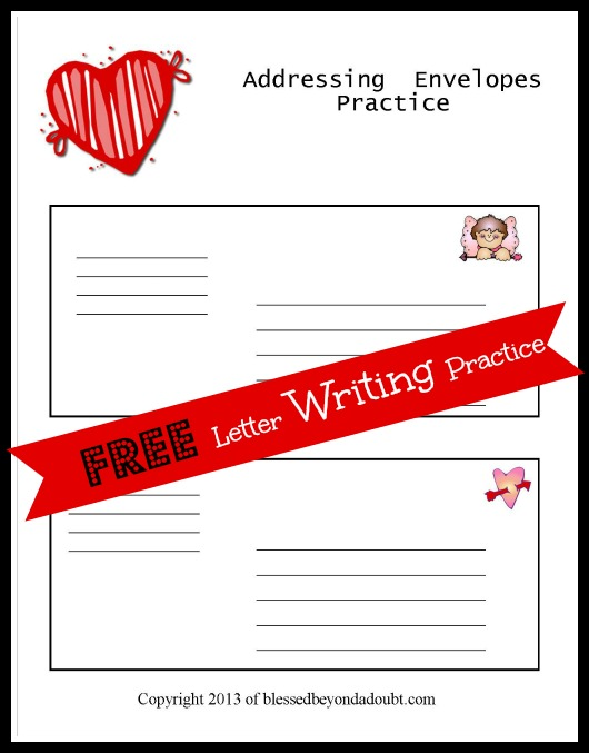 FREE Letter Writing Templates for Children! - Blessed Beyond A Doubt
