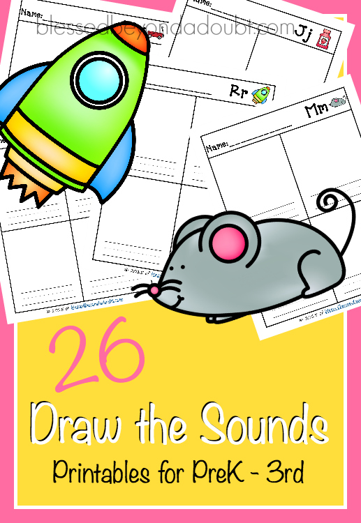 FREE Draw the Sound Worksheets Learn all 26 sounds! - printable preschool worksheet