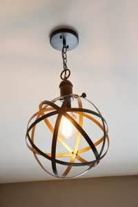 DIY Industrial Rustic Pendant Light - Bless'er House